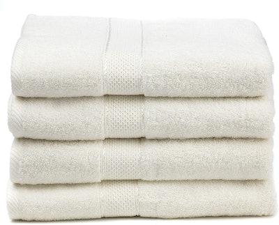 Ariv Collection Premium Bamboo Cotton Bath Towels (4-Pack)