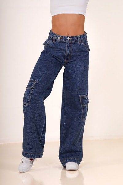 Baja Cargo Ultra Blue Jeans