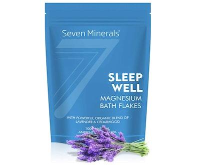 Seven Minderals Sleep Well Magnesium Chloride Bath Flakes