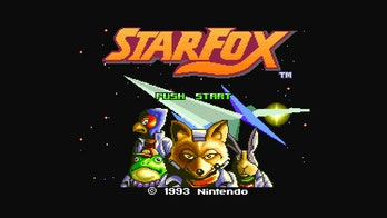 The game's opening screen