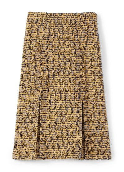 Bicolore Tweed Knit Skirt