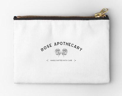 Rose Apothecary Logo Merchandise Zipper Pouch