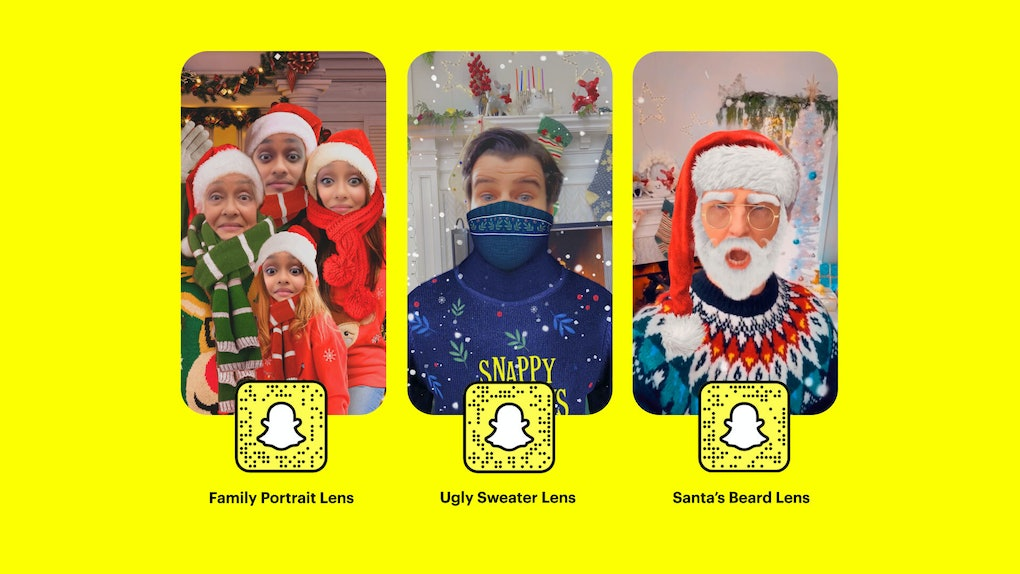 Here's where to find Snapchat's holiday 2020 lenses to send festive snaps to your crew.
