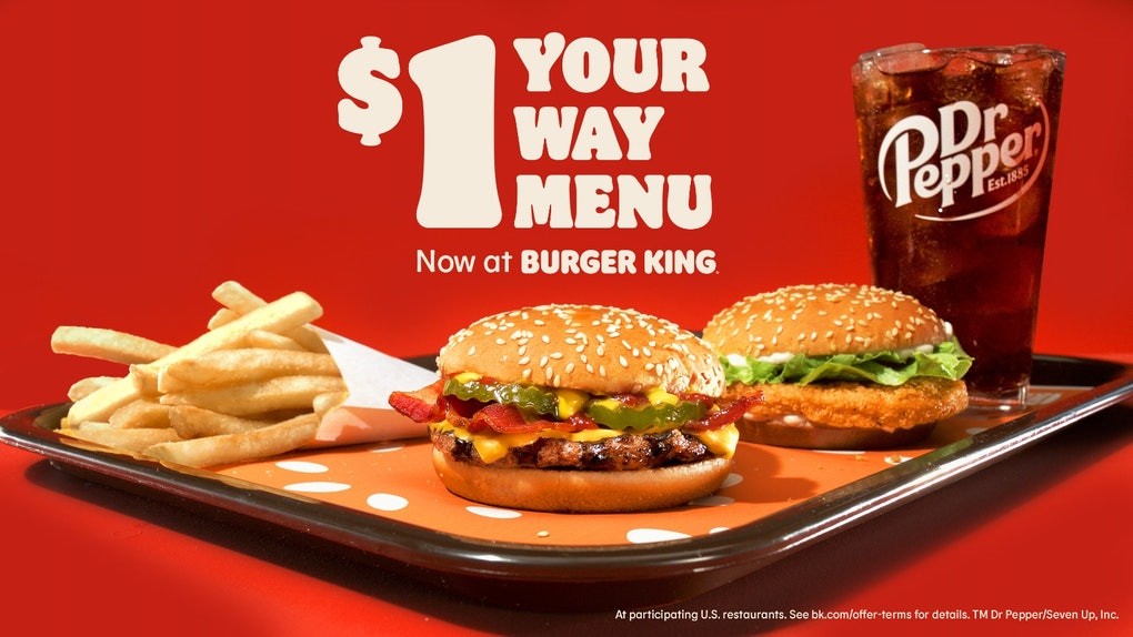 Burger King's new $1 Your Way menu for 2021 is coming so soon.