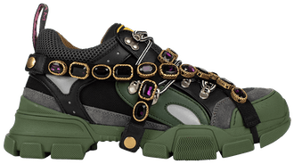 "Gucci Flashtrek ""Green Crystals"""