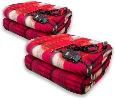 Zento Deals 12V Electric Blanket (2-Pack)