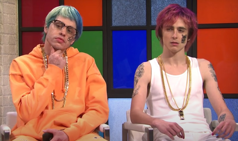 Pete Davidson and Timothee Chalamet on 'Saturday Night Live'