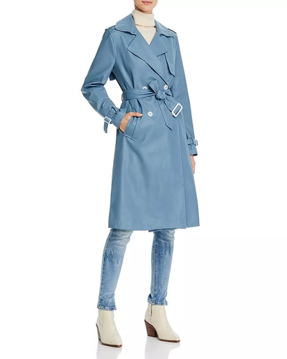 Lucia Faux Leather Trench Coat