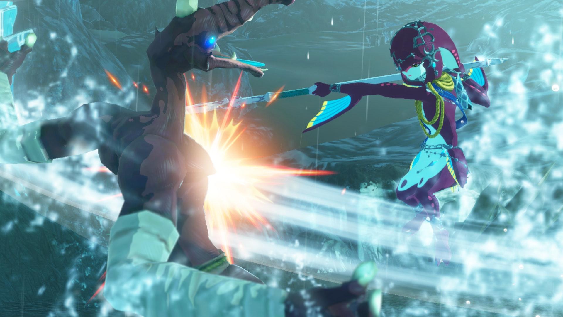 Mipha tem um equilíbrio quase perfeito entre dano e mobilidade. Koei Tecmo / Nintendo