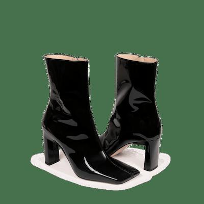 Isa Boot Shiny Black