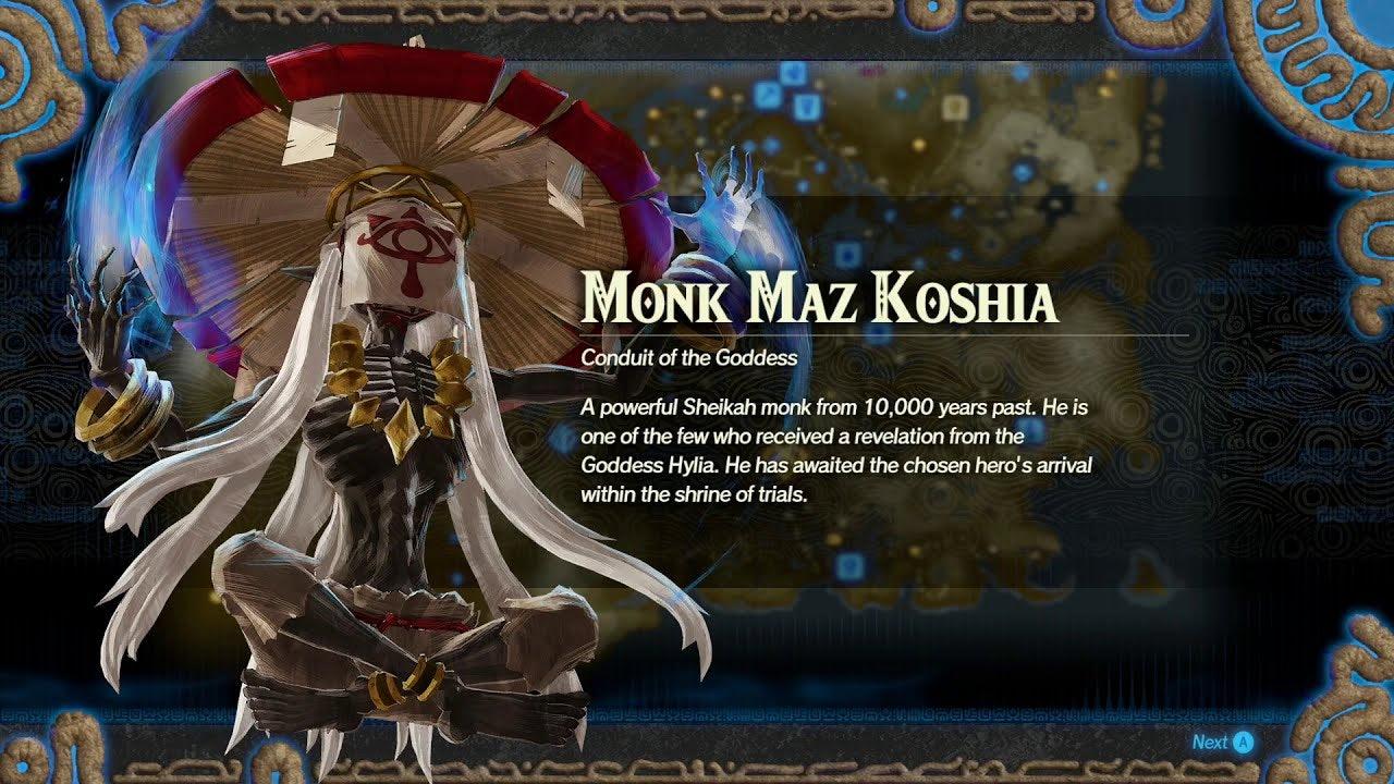 A maior fraqueza do monge Maz Koshia é sua habilidade única. Koei Tecmo / Nintendo