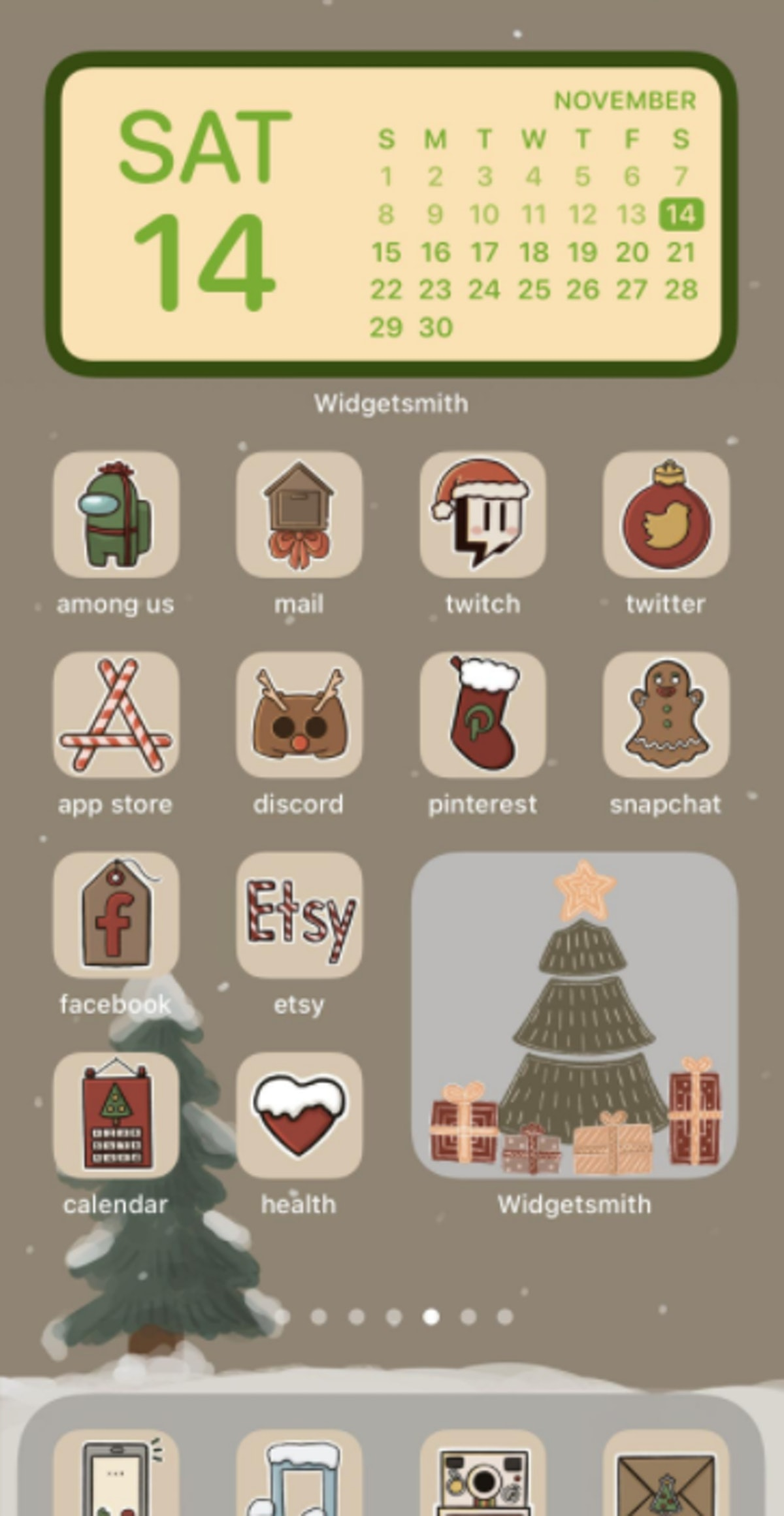 Rustic Holiday iOS 14 Home Screen Design Pack