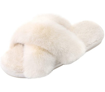 Parlovable Women's Cross Band Slippers