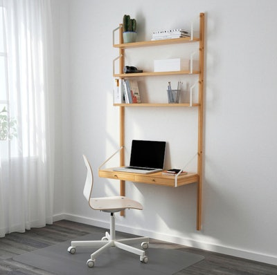 SVALNÄS Wall-Mounted Storage Combination, Bamboo