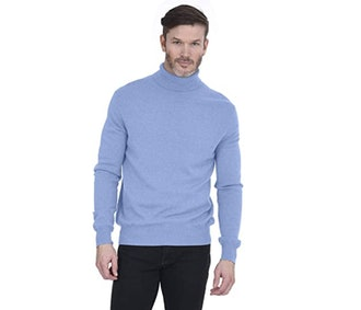 Cashmeren Men's Basic Turtleneck Pullover