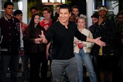 Mario Lopez as A.C. Slater in 'Saved by the Bell' via Peacock's press site
