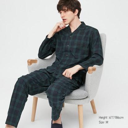 Men Flannel Long-Sleeve Pajamas