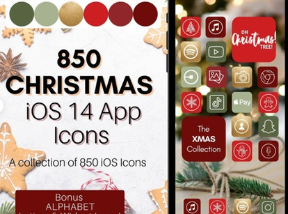 Holiday Tree & Ornament iOS 14 Home Screen Design Pack