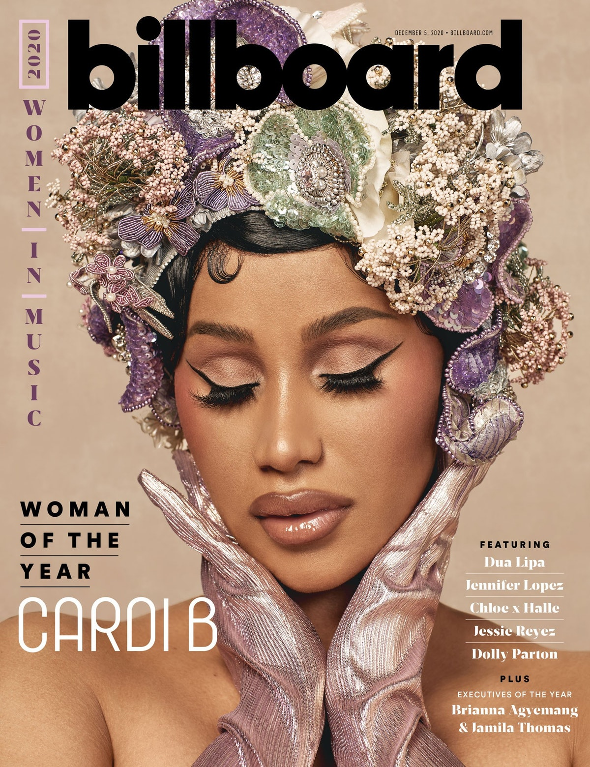 Cardi B graces Billboard's Women of the Year issue.