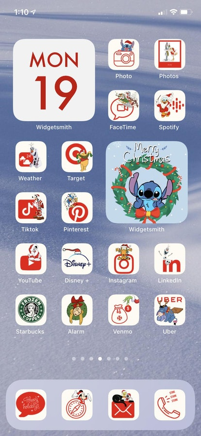 Disney Holiday iOS 14 Home Screen Design Pack