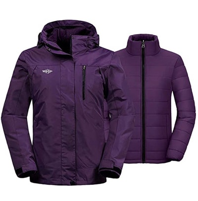 Wantdo 3-in-1 Waterproof Ski Jacket