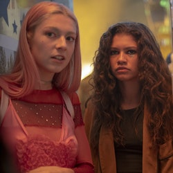 Zendaya and Hunter Schafer as Rue and Jules in Season 1 of 'Euphoria'