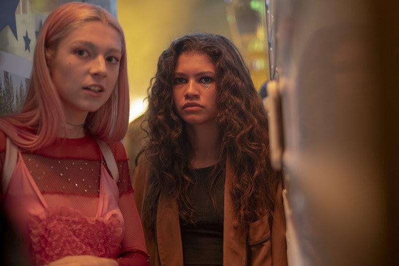 Zendaya and Hunter Schafer as Rue and Jules in Season 1 of 'Euphoria'