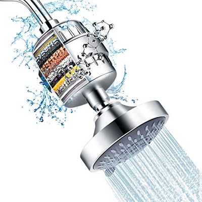 FEELSO Shower Head and 15 Stage Shower Filter Combo