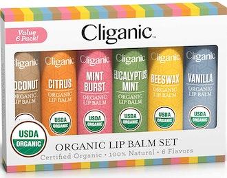 Cliganic Organic Lip Balm (Set of 6)