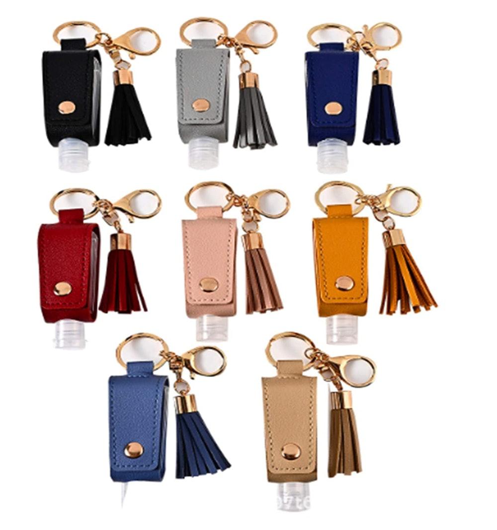 ASZNARD Travel Bottles Keychain Holder 8 Pieces