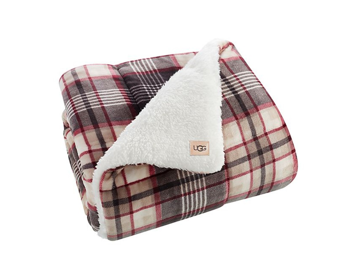 UGG® Avery Quilted Throw Blanket in Winter Plaid