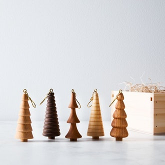 Handcrafted Woodland Ornament Gift Box (Set of 5)