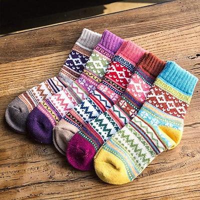 Justay Thick Knit Socks (5 Pairs)