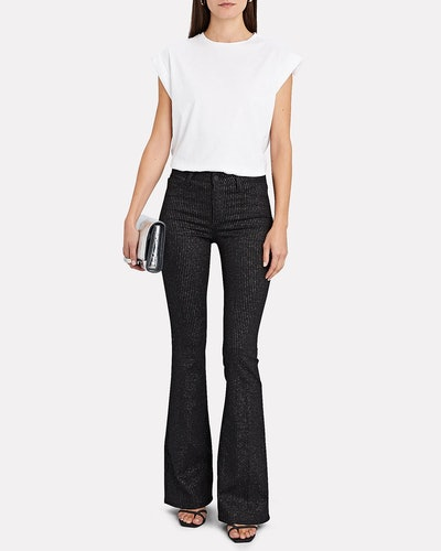 Bell Flare Pinstripe Jeans
