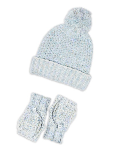 Time and Tru Handcrafted Beanie and Gloves Set
