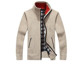 Yeokou Full Zip Thick Knitted Cardigan
