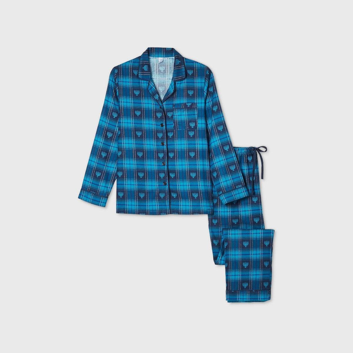 Women's Holiday Hanukkah Flannel Matching Family Pajama Set