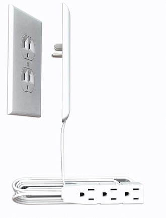 Sleek Socket Ultra-Thin Electrical Outlet Cover with 3-Outlet Extension Cord
