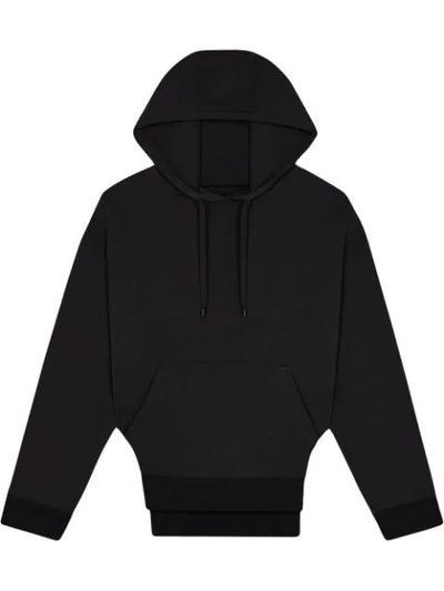 Rounded cutout hoodie