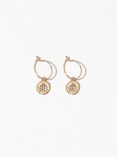 Aquarius Hoop Earrings