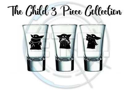 Little Mysterioius Child Thing Shot Glasses