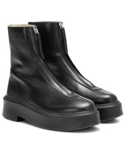 Zipped 1 leather ankle boots