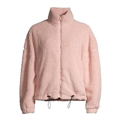 Full Zip Cinched Waist Sherpa Jacket