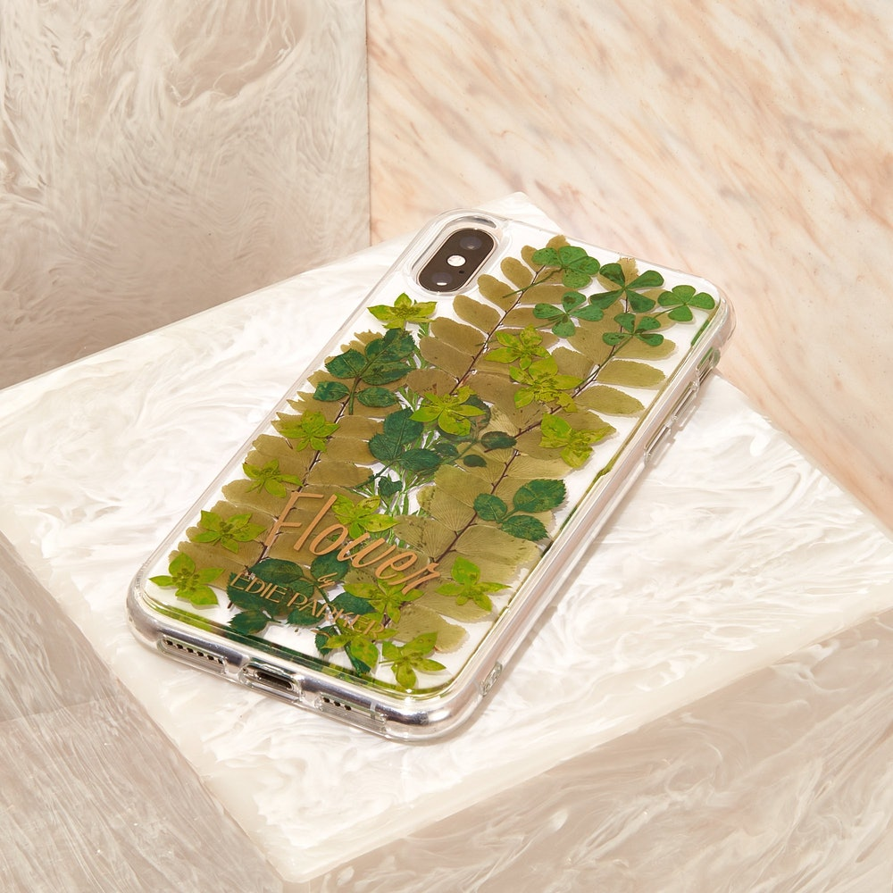 Phone Case in Pressed Leaves