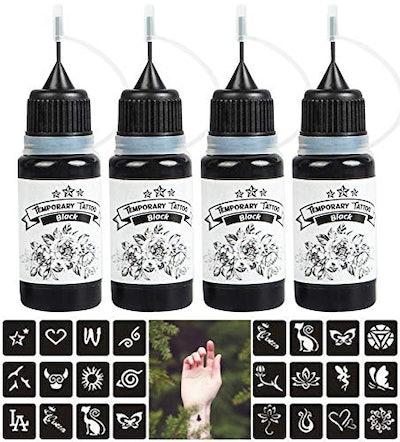 Yeteng 4 Pack Temporary Tattoo Kit
