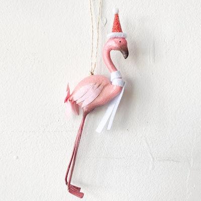 Party Flamingo Ornament