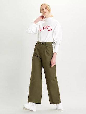 Pleated High Loose Pants
