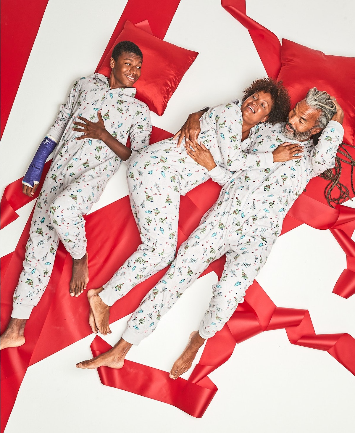 Matching Men's Festive Trees Hooded Onesie Created for Macy's