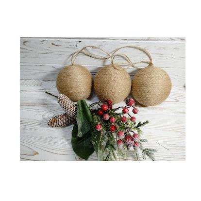 Burlap Christmas Decoration