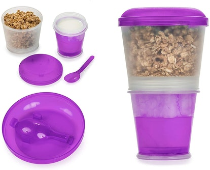 Center Link Media Cereal To-Go Container Cup